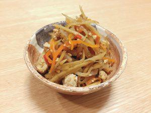 キレイになるレシピ♡たんぱく質たっぷり!1品で栄養抜群のきんぴらサムネイル