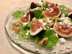 【ヘルシーレシピ】無花果とルッコラとカッテージチーズのサラダサムネイル