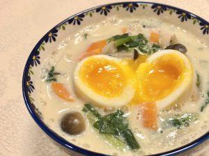 根菜たっぷり豆乳味噌スープレシピサムネイル
